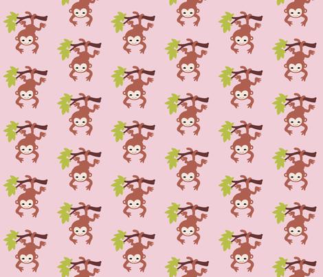 monkeypink fabric by mytinystar on Spoonflower - custom fabric