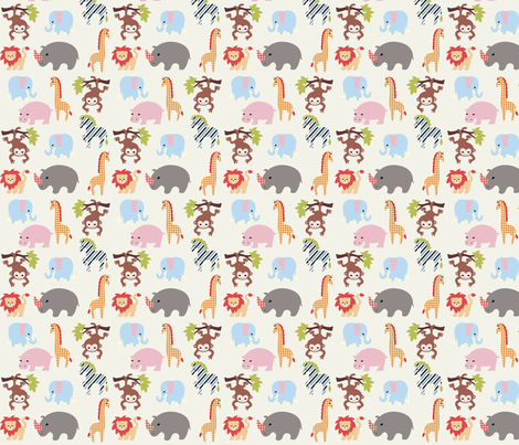 animalla fabric by mytinystar on Spoonflower - custom fabric