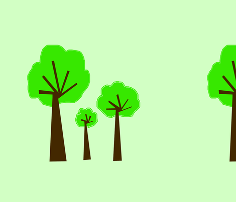 3_trees_-2_-_greenish_background_copy fabric by petunias on Spoonflower - custom fabric