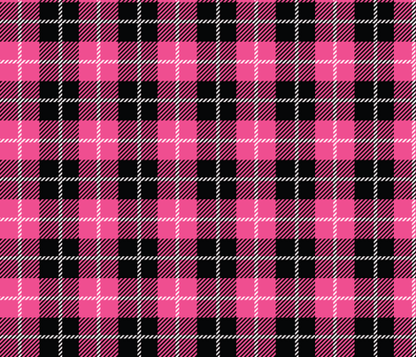 Pirate Plaid - Magenta fabric by pixeldust on Spoonflower - custom fabric