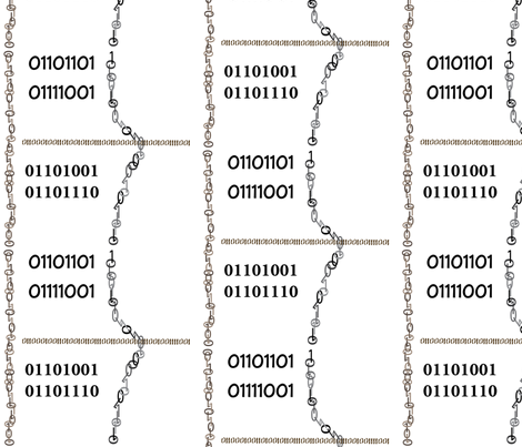 Spell My Name in Binary fabric by freakgeekunique on Spoonflower - custom fabric