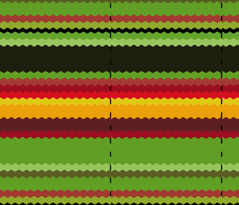 hex_edit_waterfall_270_red_nasturtium_Sept_23_2009_006 fabric by khowardquilts on Spoonflower - custom fabric