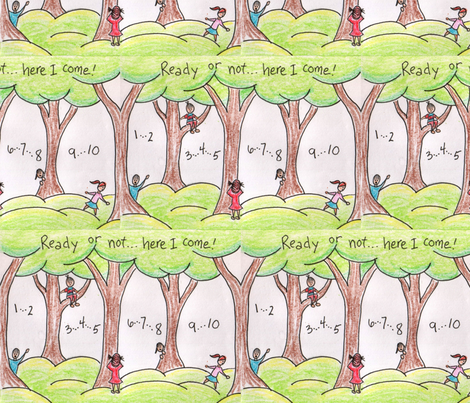 ready_or_not_two-ed fabric by shout4joyquilter on Spoonflower - custom fabric