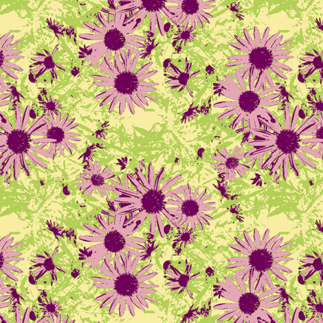 Yvonne's Daisy fabric by inscribed_here on Spoonflower - custom fabric