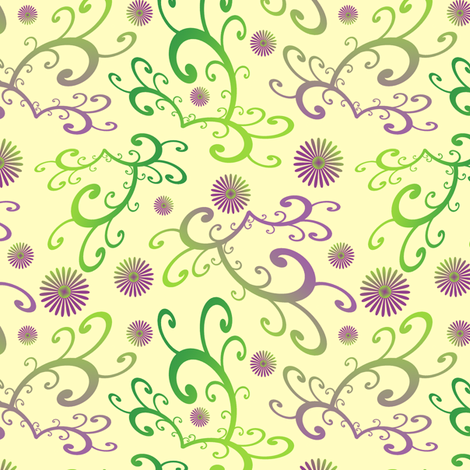 Curvy Daisy fabric by inscribed_here on Spoonflower - custom fabric