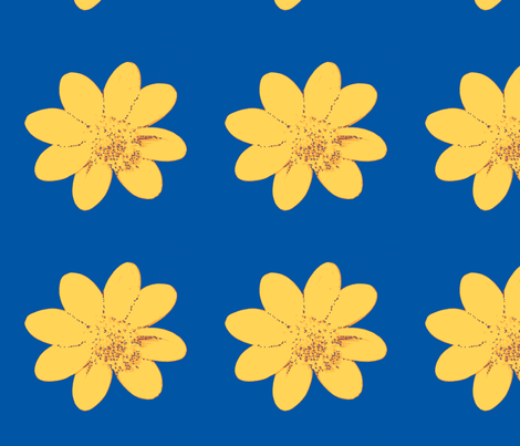 single_yellow_dalia_Sept_23_2009_016-ed-ch-ch-ch-ch fabric by khowardquilts on Spoonflower - custom fabric