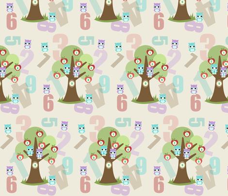 Tree 1 2 3 fabric by mytinystar on Spoonflower - custom fabric