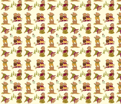 Bear brothers fabric by peikonpoika{by}brunou on Spoonflower - custom fabric