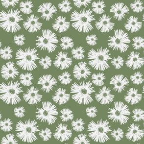 Paper Daisy - Olive Green