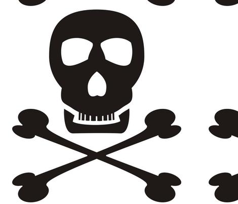 Black_pirate_tr_copy fabric by moonduster on Spoonflower - custom fabric