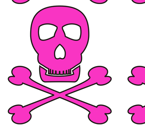 Pink_pirate_tr_copy fabric by moonduster on Spoonflower - custom fabric