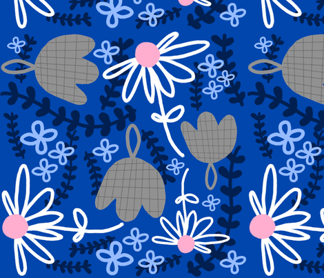 winter flowers fabric by emilyb123 on Spoonflower - custom fabric