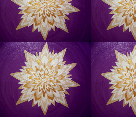 Crown Chakra fabric by heatherpeterman on Spoonflower - custom fabric