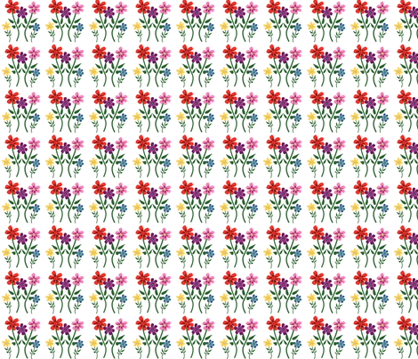 Colorful_Flowers fabric by anacskie on Spoonflower - custom fabric