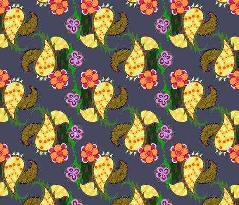 pineapple_joy_fall_colorway fabric by periwinklepaisley on Spoonflower - custom fabric