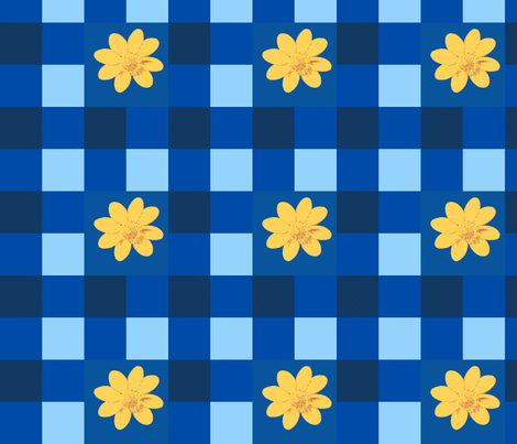 blue_check_gold_2_Picnik_collage-ch fabric by khowardquilts on Spoonflower - custom fabric