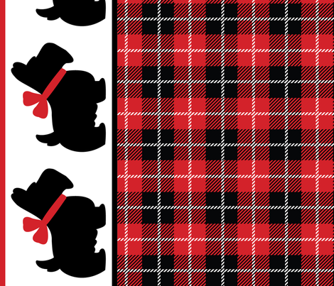 Scottie Plaid Panel fabric by pixeldust on Spoonflower - custom fabric