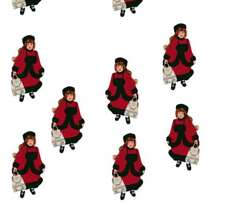 Doll Fabric fabric by karenharveycox on Spoonflower - custom fabric