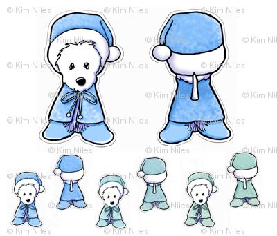 Winter Westie Doll Panels