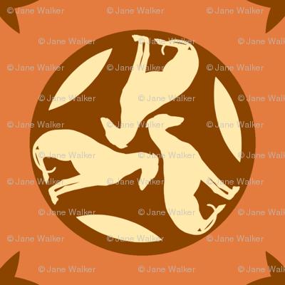 Rust Greyhounds gg3   ©2010 by Jane Walker
