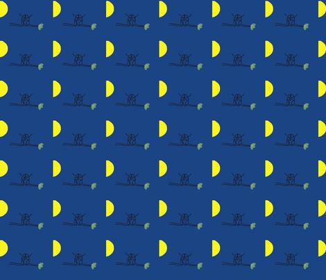 Full Moon Owl fabric by anacskie on Spoonflower - custom fabric