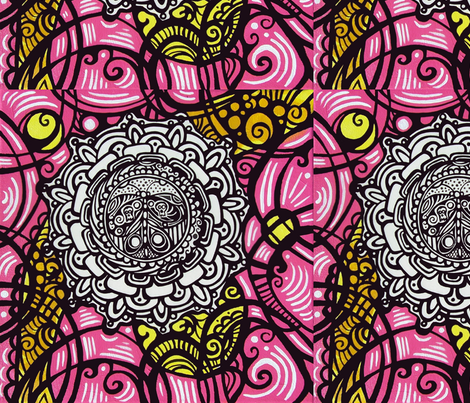 Butterfly Flower  fabric by heatherpeterman on Spoonflower - custom fabric