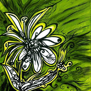 Green and Gold Flower Power