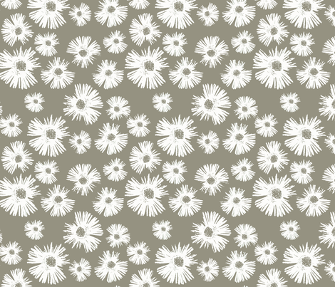 Paper Daisy - Sage fabric by kristopherk on Spoonflower - custom fabric