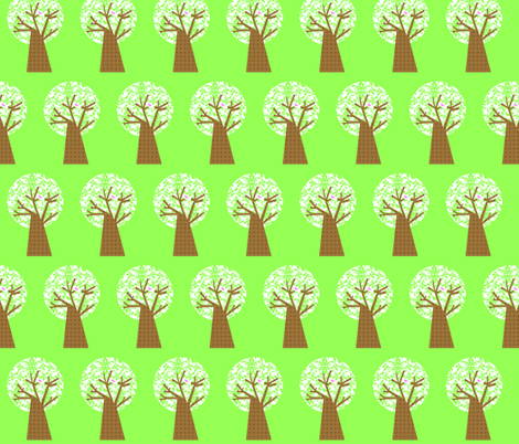 damask_tree_4x5_copy fabric by petunias on Spoonflower - custom fabric