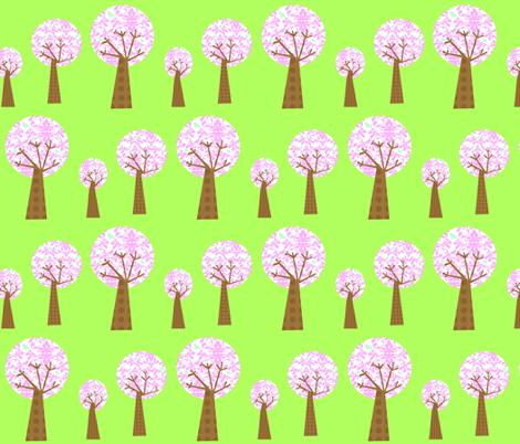 pink_damask_tree_3_copy fabric by petunias on Spoonflower - custom fabric