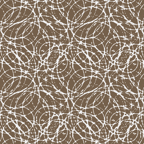 Ink Bubbles - Toffee fabric by kristopherk on Spoonflower - custom fabric