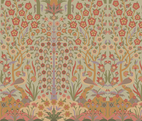 Garden of Paradise 3a fabric by muhlenkott on Spoonflower - custom fabric