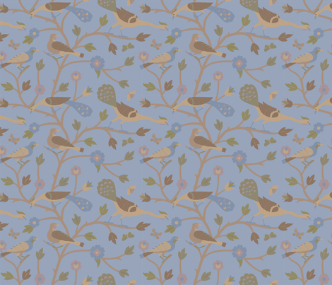 Persian Birds 613b fabric by muhlenkott on Spoonflower - custom fabric