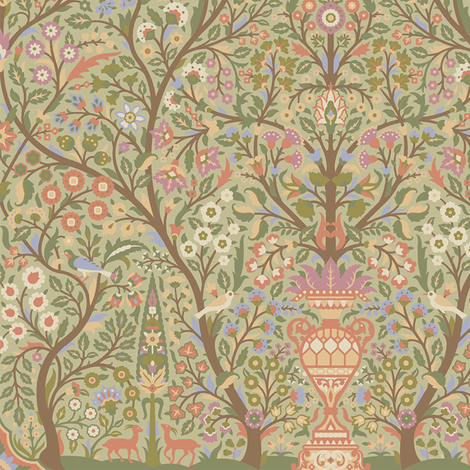 Garden of Paradise 1b fabric by muhlenkott on Spoonflower - custom fabric