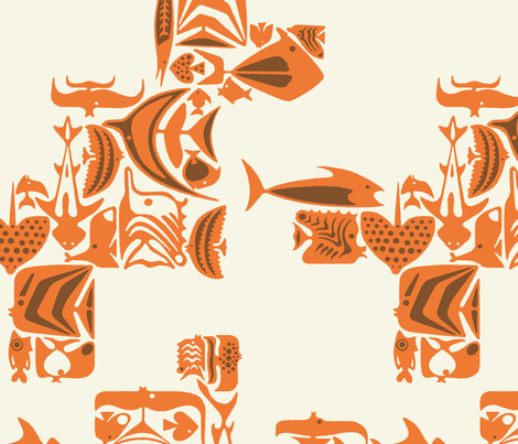 Catalina Fish 1a fabric by muhlenkott on Spoonflower - custom fabric