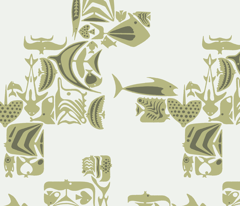 Catalina Fish 1b fabric by muhlenkott on Spoonflower - custom fabric