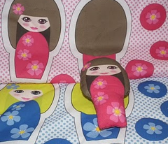 Flower Kokeshi Dolls