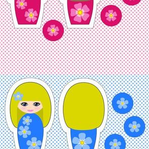 Flower Kokeshi Dolls