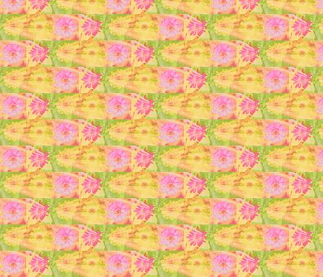 11 circle_splash_4_zinnias_row_Picnik_collage-ch-ch fabric by khowardquilts on Spoonflower - custom fabric