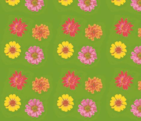 10 color 2_zinniasPicnik_collage-ch-ch-ch-ed-ch-ch-ch-ch-ch fabric by khowardquilts on Spoonflower - custom fabric
