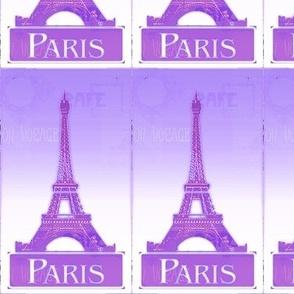Purple Paris postcard