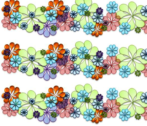Flowers fabric by andsewon on Spoonflower - custom fabric