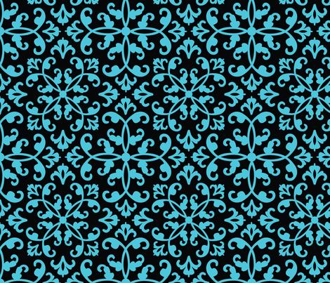 Contessa Damask - Blue Sonata fabric by pixeldust on Spoonflower - custom fabric
