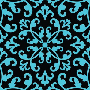 Contessa Damask - Blue Sonata