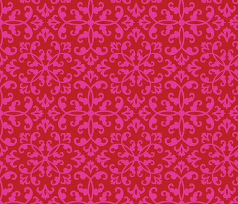 contessa - scarlet blush fabric by pixeldust on Spoonflower - custom fabric