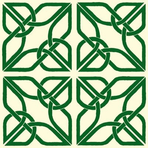 Celtic trifoil knotwork - green