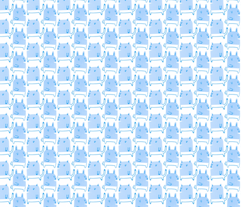 Cats & Rabbits fabric by anda on Spoonflower - custom fabric