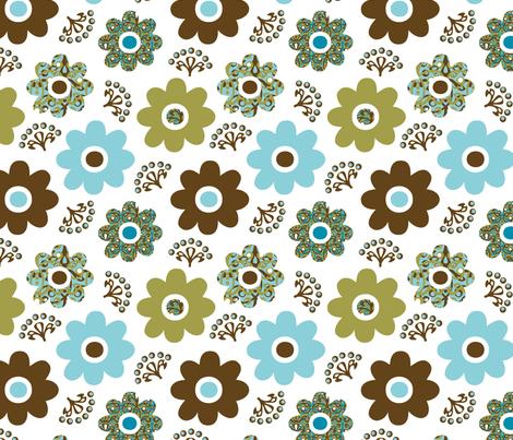 Giving Tree Blossoms fabric by pixeldust on Spoonflower - custom fabric