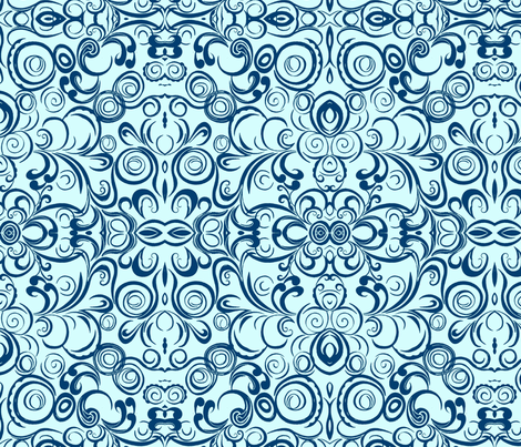Cloud swirl fabric by joybea on Spoonflower - custom fabric