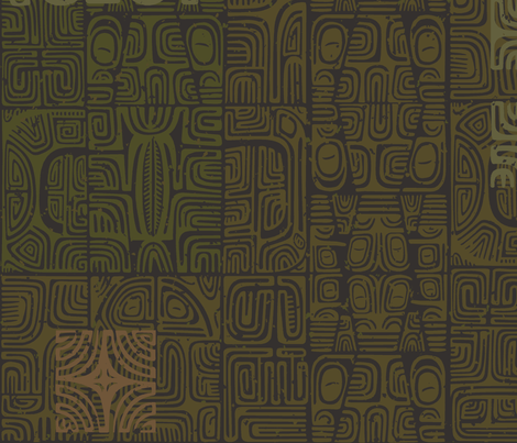 Marquesan 2a fabric by muhlenkott on Spoonflower - custom fabric